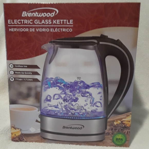 Brentwood electric cordless glass kettle